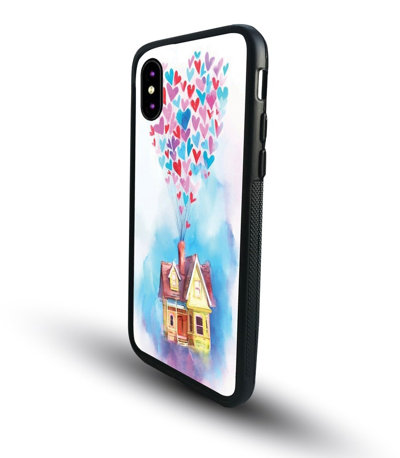 Personalised iPhone Samsung Phone Cover Clip Case Disney Up House Balloons iPhone 12  Pro  Pro Max  S10  S20  S20 S20 Ultra