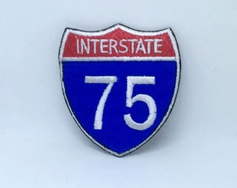 US Interstate Highway 420 Patch Daily Toker Stoner Embroidered Iron On Applique
