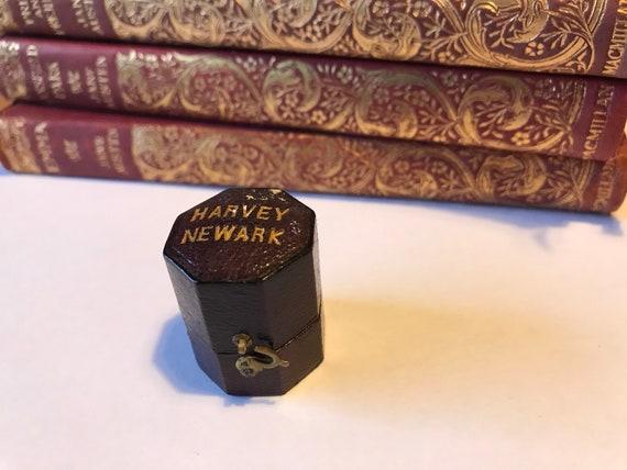 Antique ring box, velvet-lined gift box, engagemen