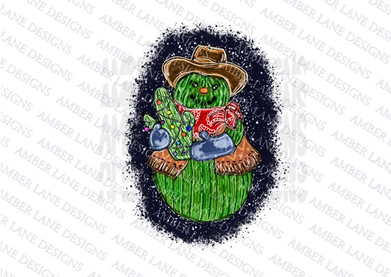 Snowman Cactus Christmas Cactus With Cowboy Hat Png File Etsy Find & download free graphic resources for christmas hat png. etsy