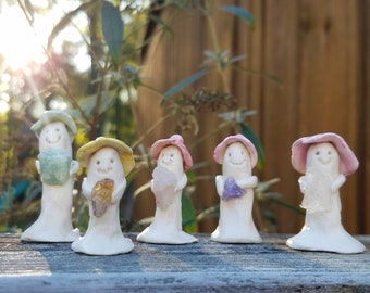 Little Healing Helpers / Lucky Little People / Oogles / Good Luck Charms / Good Fortune Figurines / Appalachia Folklore Clay Figurines