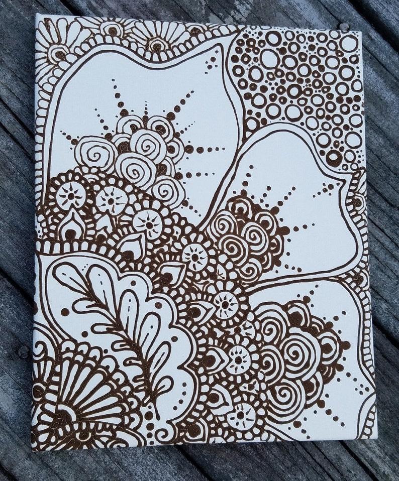henna auf leinwand  mandala  mandala blume