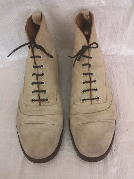 VTG Cricket Canvass Mens Ankle Boots In