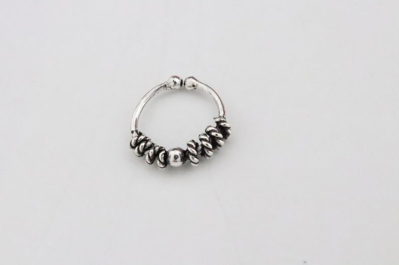 solid sterling silver 925 2 different design of small size of FAKE SEPTUM fake lip ring etc lead /& nickle free 2i2v