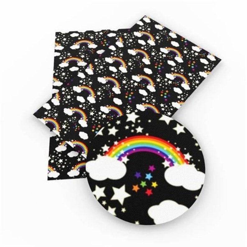 Vinyl Fabric Sheet U1-107 Rainbow Faux Leather Sheets