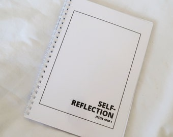 Christian self-reflection journal, Christian notebook, Christian journal