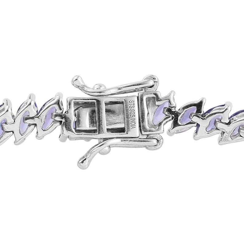 7.25 In 11.60 ctw AA Tanzanite Bracelet in Sterling Silver Tennis Bracelet For Women Birthstone Jewelry Gift For Her