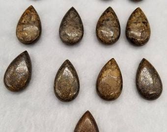 Chatoyant Freeform Cabochon Bronzite Cabochon for jewelry making
