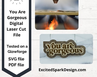 You Are Gorgeous Layered Wall Sign SVG