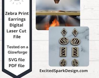 Zebra Print Earring Bundle Laser File SVG