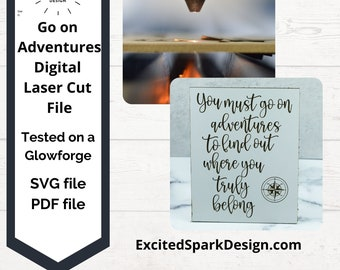 adventure svg, wood sign, wall art, graduation gift, moving away, laser cut files, nautical compass, wedding gift, travel quote, new home