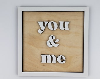you and me wood sign, couple gift ideas, wedding decor ideas, couple gift cute, couple gift wedding, you and me forever, you and me wall art