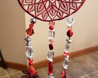Embroidered Lace Dreamcatcher