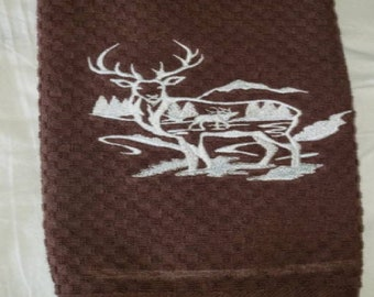 Wildlife Embroidered Terry Dish Towels
