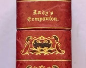 Antique Circa 1850 Lady 39 s Companion Sewing Needlework Etui Thimble, Scissors, Mechanical Pencil, Buttonhook, Velvet Pincushion Stiletto