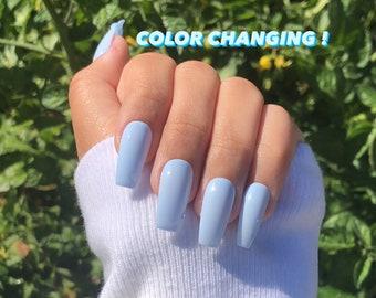 oceanside   color changing nails   color changing press ons   press ons   short nails   long nails   gel nails   nails   color change nail