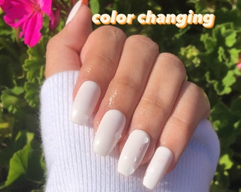 vineyard peach   color changing nails   press on nails   color changing press ons   gel nails   short nails   long nails   fake nails   gel