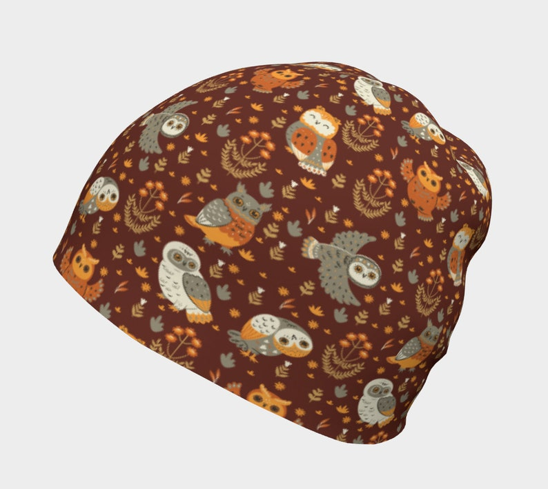 Brown Owl Pattern slouchy custom beanie women bestseller women toque toddler girl hats toboggan hat men cozy hat kids headwear