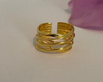 18K Gold Vermeil Ring 50/% Off Promo SALE