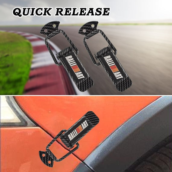 SET RALLIART Quick Release Fasteners JDM for Car Bumpers Trunk Fender Hatch Lids