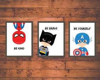 Superhero Room Decor Etsy