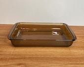 Pyrex 7 x 11 Brownie Pan Casserole Dish - Vintage Amber Fireside Brown Pyrex Visions Bakeware 1970-1980 Era - Corning UK 232-N