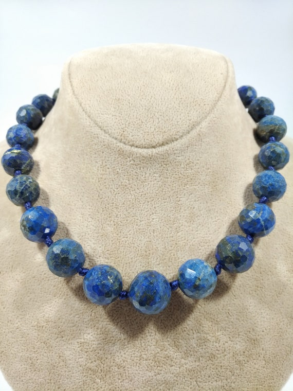 Afghan Natural Lapis Lazuli Pendant 925 Sterling Silver with Gold Plated Cover Handmade Gemstone Jewelry
