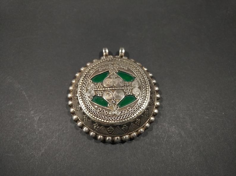 Fabulous Handmade Vintage Kazakh Style Silver Pendant