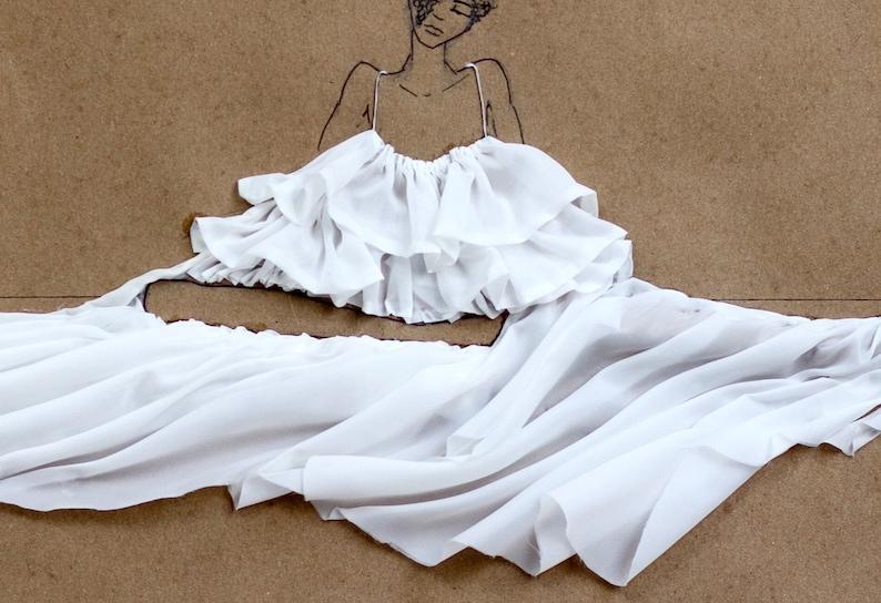 Fashion Illustration Sitting Parachutes 1 Print Wall Art