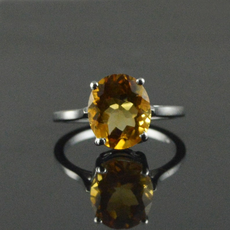 Promise ring Proposal ring Citrine ring Engagement ring Citrine jewelry 925 sterling silver Silver ring Wedding gift Gift for her,