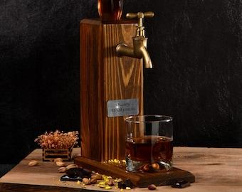 Wood Personalized Dispenser, Liquor Dispenser, Whiskey fountain, Beverage Dispenser, Alchohol Gifts, Drink Dispenser, Gift For Him, Handmade