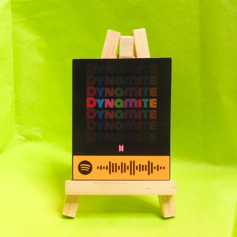 BTS Dynamite Spotify Code Sticker | Etsy