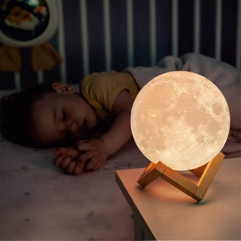 Lampada lunare 3D accattivante 16 colori LED dimmable 3H9dWPAA