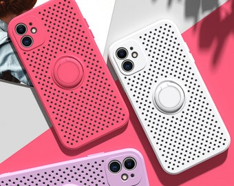 Hollow Heat Dissipation Silicone Case For iphone 13/13 pro/13 mini/11 Pro Max Mini Xs Xr X 7 8 Plus Iphone11 Iphone8 Se2020 Case