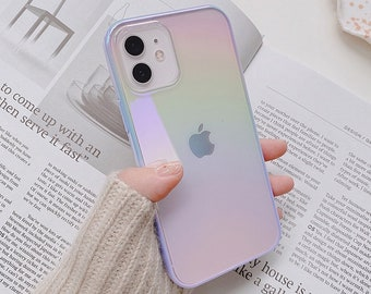 Rainbow Laser Phone Case For iPhone 13 13 Pro Max case, 13 mini case, 11 XR case, X XS Max Case, 7 8 Plus case Se 2020