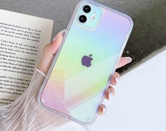 Fashion Transparent Laser Phone Case For Iphone 13/13 pro/13 mini/11 Pro Max Mini Xs Xr X 7 8 Plus Iphone11 Iphone8 Bumper Back Case