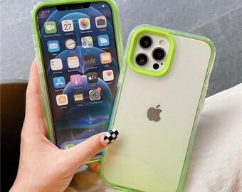 Cute Transparent Gradient Phone Case For 13/13 pro/13 mini/11 Pro Max Mini Xs Xr X 7 8 Plus Iphone11 Iphone8 Soft Shockproof Back Case