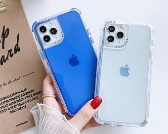 Candy Color Phone Case For 13/13 pro/13 mini/11 Pro Max Mini Xs Xr X 7 8 Plus Iphone11 Iphone8 Transparent Shockproof Bumper Soft Back Case