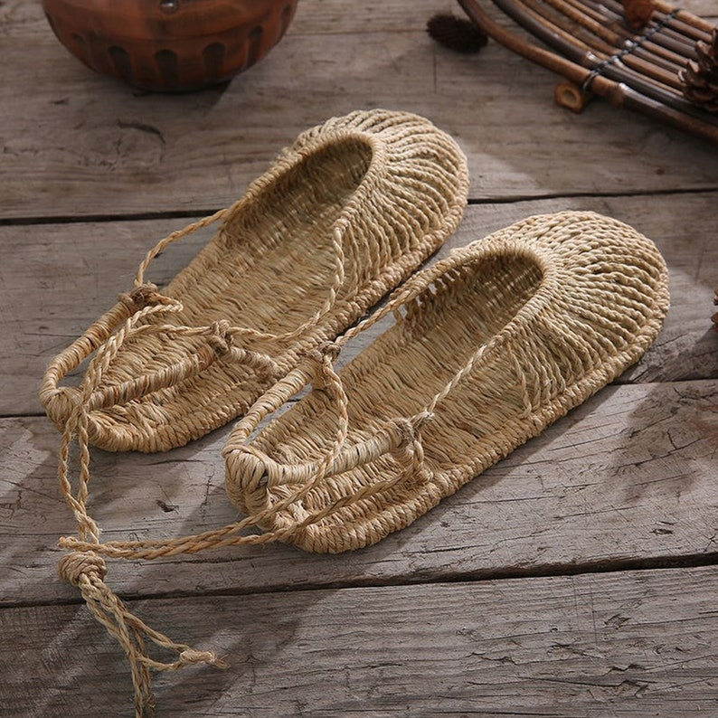 Retro Straw Shoes by Peter Gervasoni