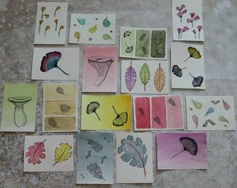 Mixed postcards x6. A6 Prints from original artwork