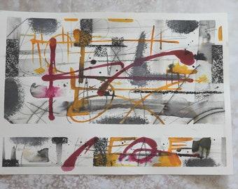 Abstract, textural wall art