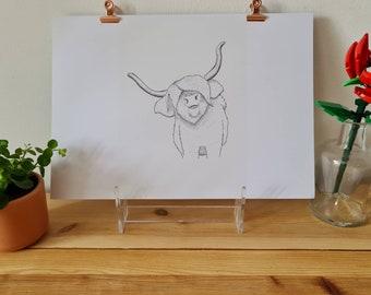 Highland Cow - Print