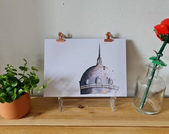 Spanish City Dome, Whitley Bay - Ink - Print