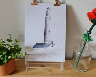 St Mary's Lighthouse, Whitley Bay - Ink - Print