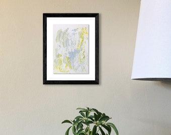 "Original Painting -  Encaustic on 5""x7"" Paper (unframed). Handmade art by Japanese artist living & working in NYC."