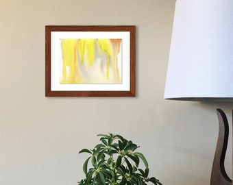 """Original Painting - Watercolor on 5""""x7"""" Paper (unframed). Handmade art by Japanese artist living & working in NYC."""
