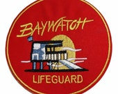 Baywatch Lifeguard Patch (3.5 Inch) Embroidered Iron Sew-on Badge Movie Souvenir Uniform Costume Emblem Swimsuit Jacket Shorts Bag