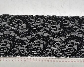 Elastic black lace