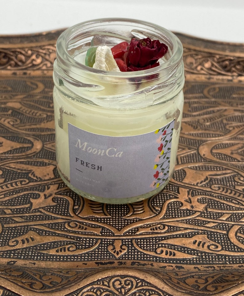 Gift Candle Natural Stone Candle Natural Essence Candle Stone Candle Handmade Soy Candle Best Friend Gift Soy Wax Candle Vegan Candle