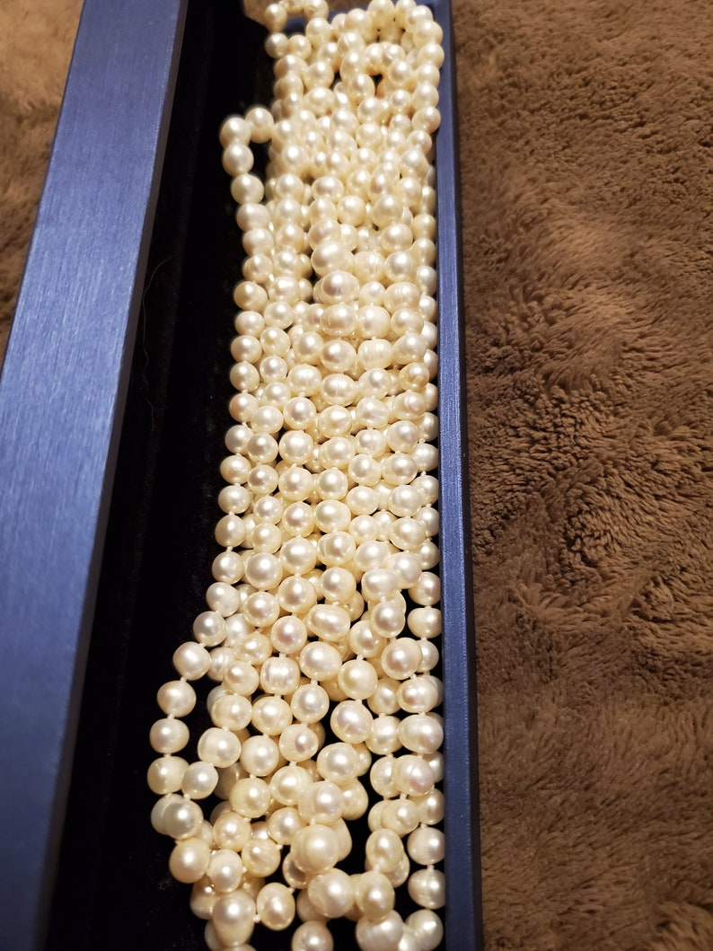 Endless Natural Authentic Fresh water Pearls 50 Inches!